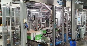 Packaging robotizzato: fino a 19 formati flowpack di salviettine igienizzanti